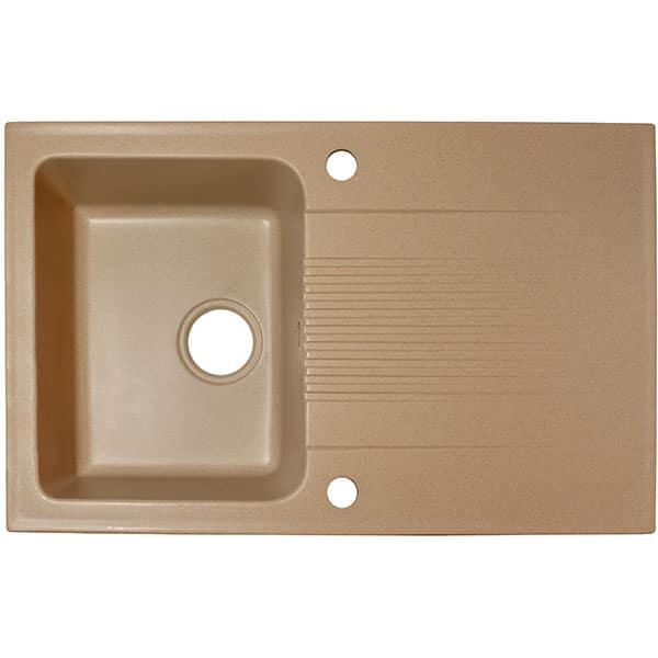 Chiuveta bucatarie ALVEUS Helio 30 G55, 1 cuva, picurator reversibil, compozit granit, bej