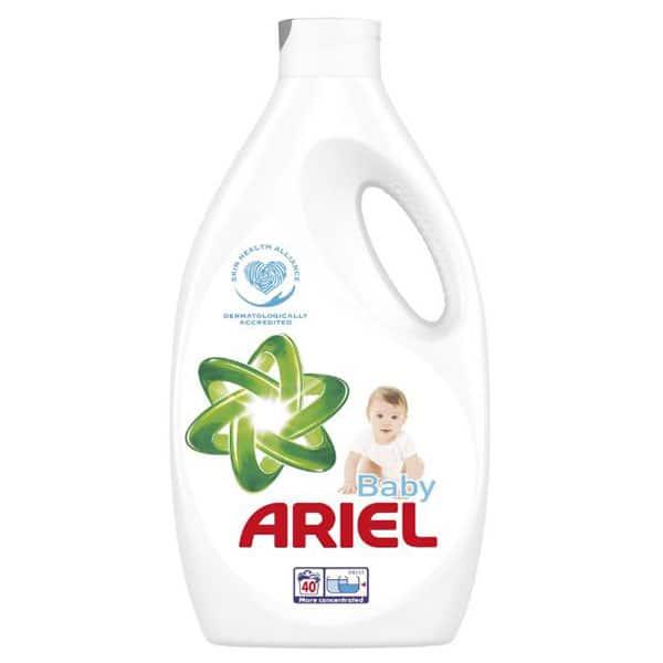 Detergent lichid ARIEL Baby, 2.2l, 40 spalari