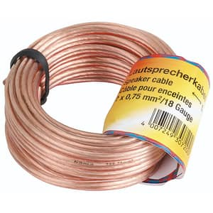 Cablu difuzor 2x 0.75 mm² HAMA 205266, 20m, transparent