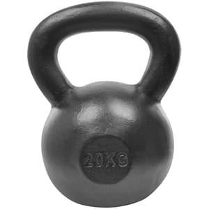 Gantera Kettlebell DHS 529FSTEKETT20, 20 kg, negru