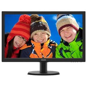 "Monitor LED MVA PHILIPS 243V5QHABA, 23.6"", Full HD, 60Hz, negru"