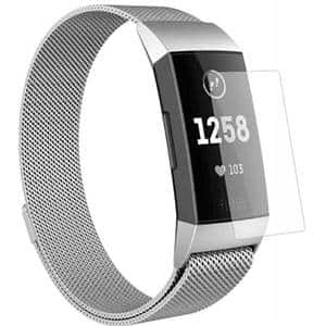 Folie protectie pentru FitBit Charge 3, SMART PROTECTION, 4 folii incluse, polimer, display, transparent