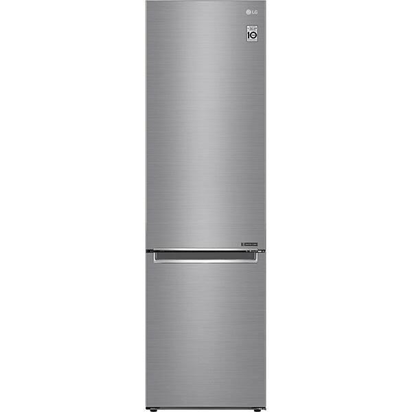 Combina frigorifica LG GBB62PZJZN, No Frost, 384 l, H 203 cm, Clasa A++, argintiu