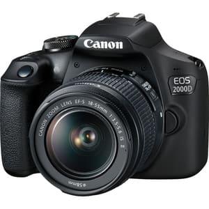Aparat foto DSLR CANON EOS 2000D, 24.1 MP, Full HD, Wi-Fi, negru, Obiectiv EF-S 18-55mm IS + EF 50mm f/1.8