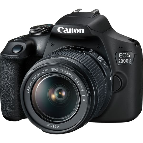 Aparat foto DSLR CANON EOS 2000D, 24.1 MP, Full HD, Wi-Fi, negru, Obiectiv EF-S 18-55mm IS + EF 50mm f/1.8