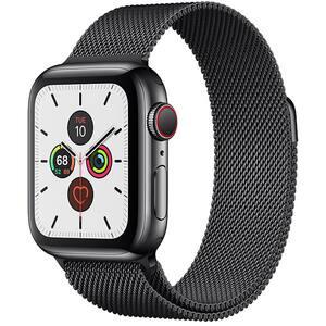 APPLE Watch Series 5 GPS + Cellular, 40mm Stainless Steel Case, Stainless Steel Milanese Loop