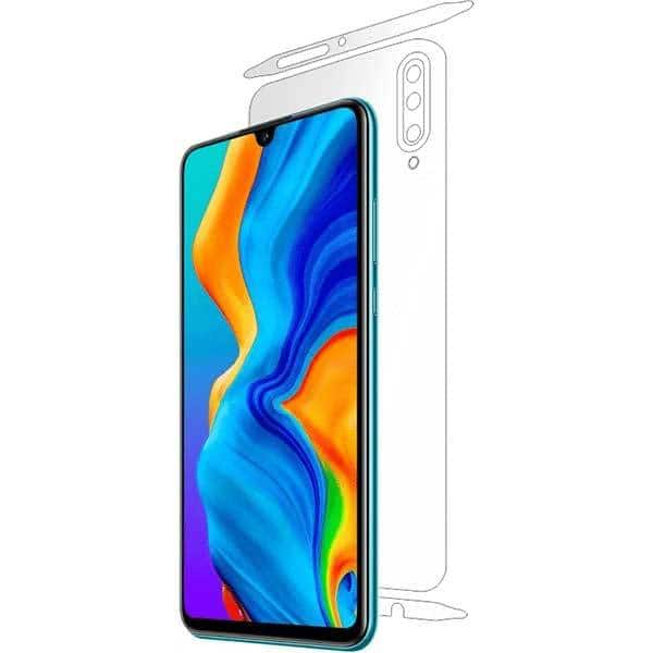 Folie protectie pentru Huawei P30 Lite, SMART PROTECTION, polimer, spate si laterale, transparent