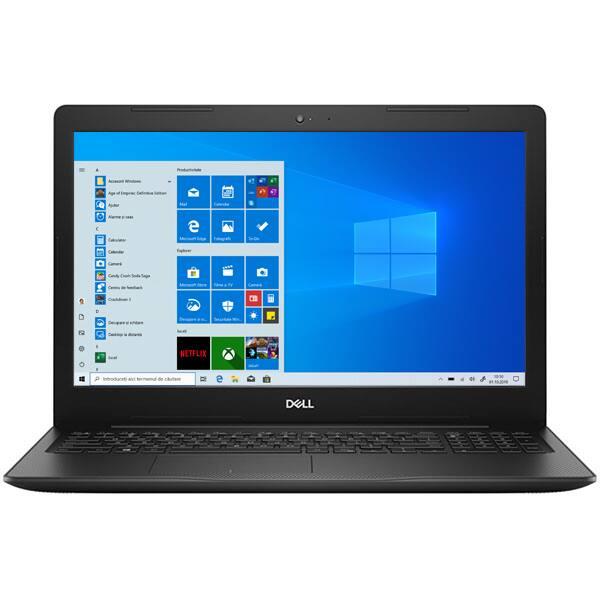 """Laptop DELL Inspiron 3593, Intel Core i7-1065G7 pana la 3.9GHz, 15"""" Full HD, 8GB, SSD 512GB, NVIDIA GeForce MX230 2GB, Windows 10 Home, negru"""