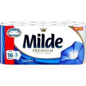 Hartie igienica MILDE Cool Blue, 3 straturi, 16 role
