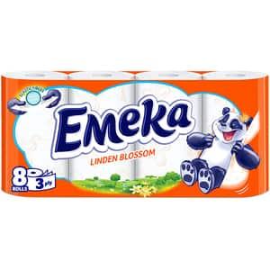 Hartie igienica EMEKA Linden Blossom, 3 straturi, 8 role