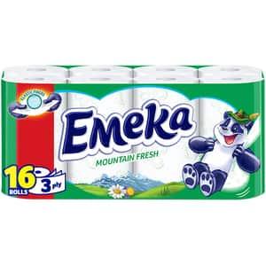 Hartie igienica EMEKA Mount Fresh, 3 straturi, 16 role