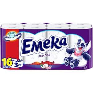 Hartie igienica EMEKA Paradise, 3 straturi, 16 role