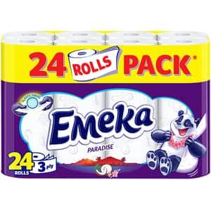 Hartie igienica EMEKA Paradise, 3 straturi, 24 role