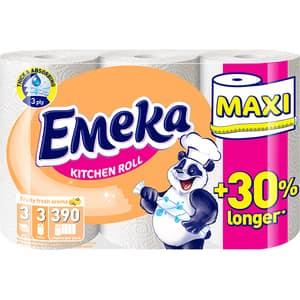 Prosoape de hartie EMEKA Fruity Maxi, 3 straturi, 3 role