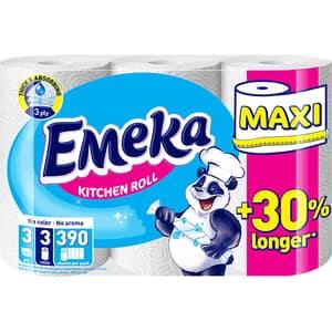 Prosoape de hartie EMEKA White Maxi, 3 straturi, 3 role