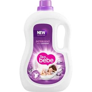 Detergent lichid TEO BEBE Cotton Soft Lavender, 2.2l, 40 spalari