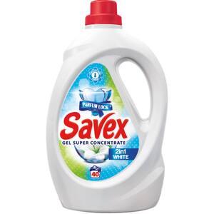 Detergent lichid SAVEX Parfum Lock 2in1 White, 2.2l, 40 spalari