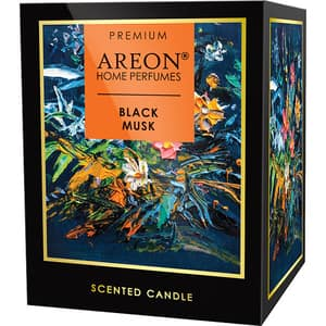Lumanare parfumata AREON Home Premium Black Musk, 313 g