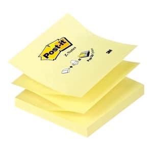 Notite adezive 3M Z-Notes, 100 file, 76 x 76mm, diverse culori