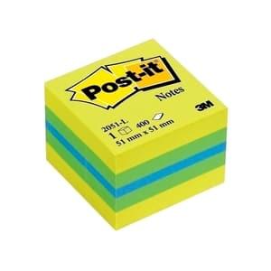 Notite adezive 3M, 400 file, 51 x 51mm, diverse culori