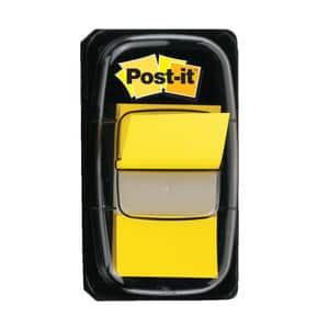 Index 3M Post-it Clasic, 25.4 x 43.2 mm, hartie, plastic, 50 foite, galben