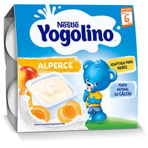Gustare cu lapte NESTLE Yogolino caise 12403378, 6 luni+, 4 x 100g