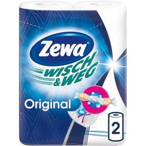Prosoape de hartie Zewa Wisch&Weg Original, 2 straturi, 2 role, 45 foi
