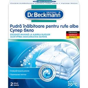 Pudra inalbitoare pentru rufe DR.BECKMANN, 2 x 40g