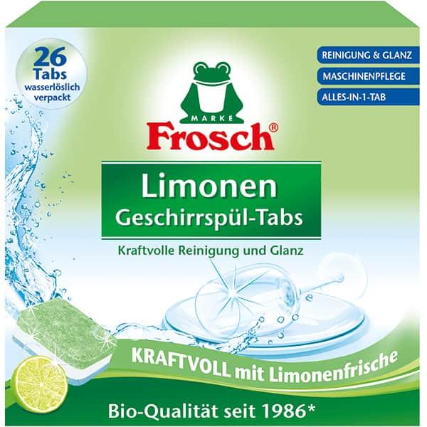 Detergent pentru masina de spalat vase FROSCH Lamaie, 26 tablete