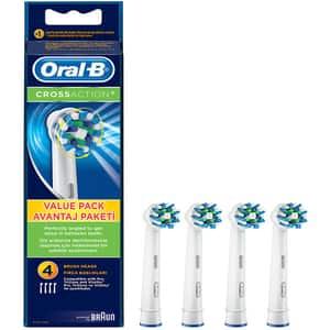 Rezerve periuta de dinti electrica ORAL-B EB50 Cross Action, 3+1 Gratis