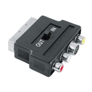 Adaptor video 4 pini, S-VHS Mufa / 3 RCA (phono) mufe - 1 mufa Scart HAMA 42357