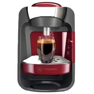Espressor capsule BOSCH Tassimo Suny TAS3203, 0.8l, 1300W, 3.3 bar, rosu-negru