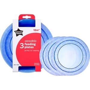 Set farfurii TOMMEE TIPPEE Essential, 12 luni +, 3 buc, albastru