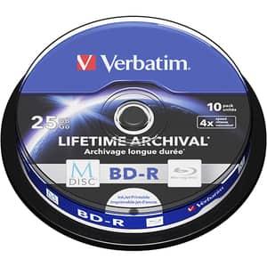 BD-R M-Disc VERBATIM 43825, 4x, 25GB, 10buc