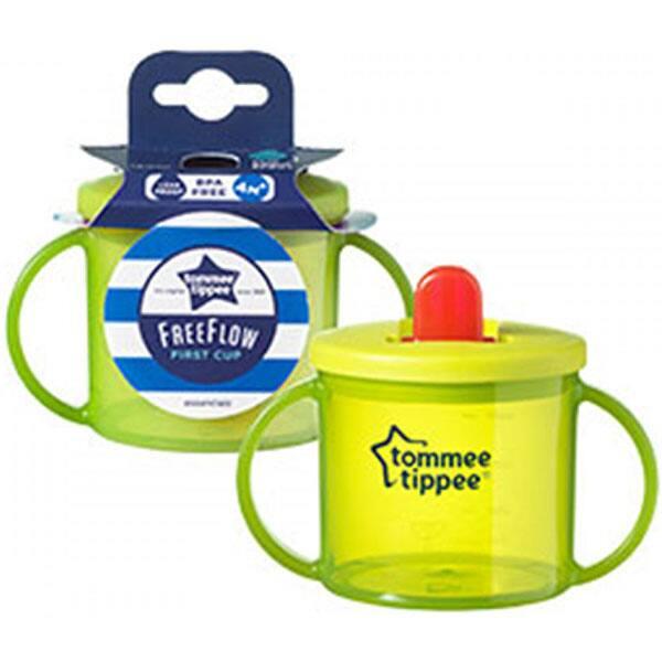 Cana gradata TOMMEE TIPPEE Basics First Cup, 4 luni +, 190 ml, verde