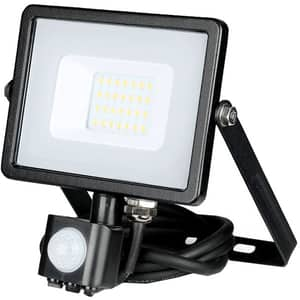 Proiector LED V-TAC 451, 20W, 1600 lumeni, IP65, lumina calda, negru