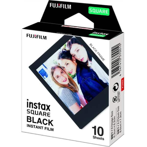 Pachet hartie foto FUJI Square, 10 coli, Black Frame