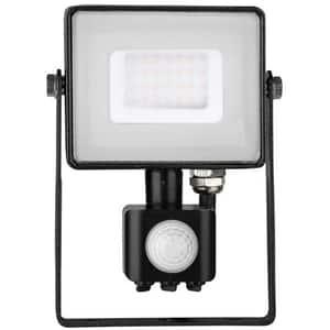 Proiector LED V-TAC 460, 30W, 2400 lumeni, IP65, lumina calda, negru