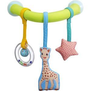 Jucarie arcada cu ventuze VULLI Girafa Sophie, 0 luni+, multicolor