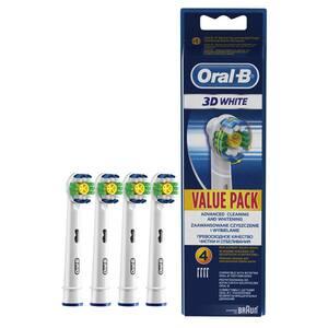 Rezerve periuta de dinti electrica ORAL-B EB18 3D White, 4buc