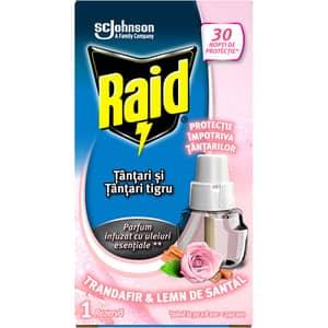 Rezerva aparat electric anti-tantari RAID Trandafir & Lemn de santal, 21 ml