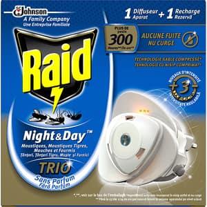 Aparat electric anti-tantari, muste si furnici RAID Night & Day Trio