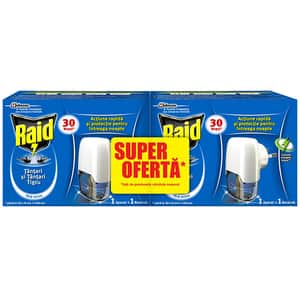 Set aparat electric anti-tantari RAID Liquid, 60 nopti, 42 ml