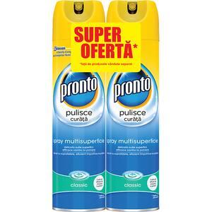 Pachet spray pentru mobila PRONTO Lemn Clasic, 2x300ml