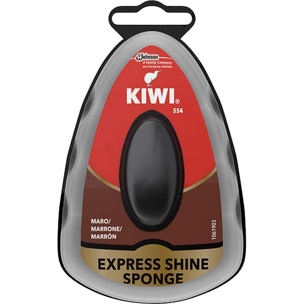 Burete cu silicon pentru incaltaminte KIWI Express Shine, maro, 7ml