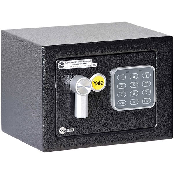 Seif mini YALE YSV/170/DB1, Inchidere electronica, 170 x 230 x 170 mm, negru