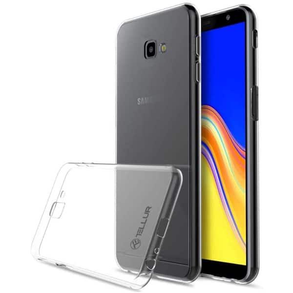 Carcasa pentru Samsung Galaxy J4 Plus, TELLUR TLL121645, silicon, transparent