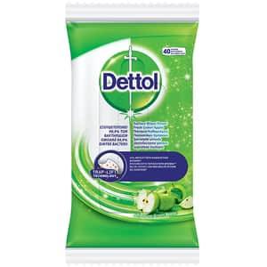 Servetele dezinfectante DETTOL mar verde, 40 buc