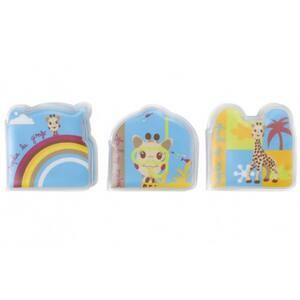 Set 3 carti pentru baie VULLI Girafa Sophie, 12 luni+, multicolor