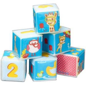 Set cuburi baie VULLI Girafa Sophie, 10 luni+, multicolor